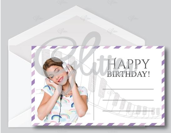 Violetta wish card glitter invitations home wish cards stopboris Gallery